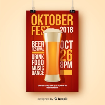 Creatieve oktoberfest-vliegersjabloon