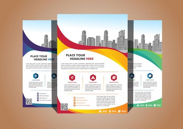 Creatieve omslag layout brochure tijdschrift catalogus folder voor evenement