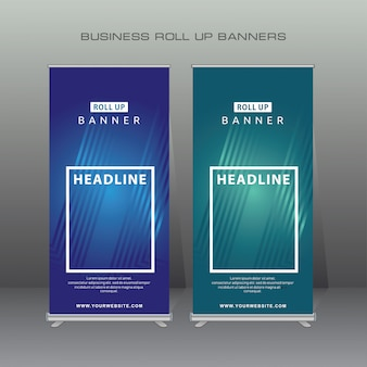 Creatieve oprolbare banner ontwerpsjabloon