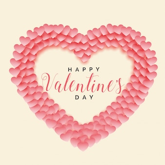 Creatieve papercut hart vorm Valentijnsdag achtergrond