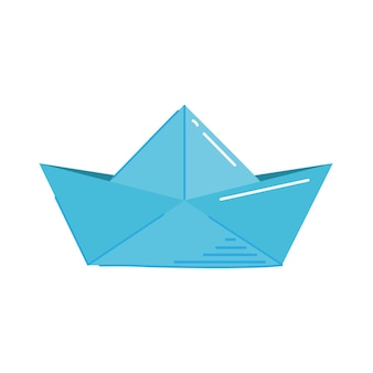 Creatieve papieren boot