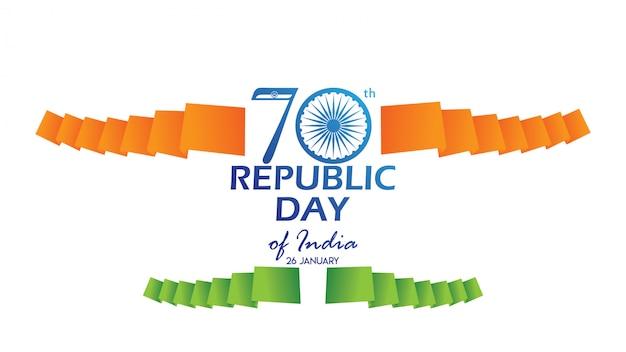 Creatieve poster, banner of flyer voor de dag van de republiek