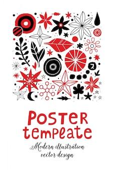 Creatieve poster sjabloon met bloemen