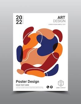 Creatieve poster tijdschrift ontwerpsjabloon. koele abstracte achtergrond