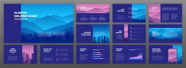 Creatieve presentatiesjablonen set.