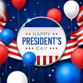 Creatieve president's day illustratie
