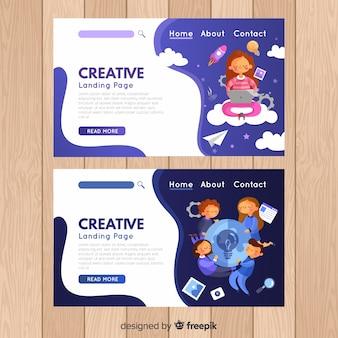 Creatieve proces-bestemmingspagina