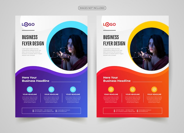 Creatieve professionele sjabloon folder