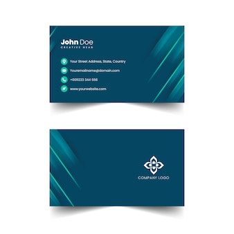 Creatieve professionele visitekaartje vector