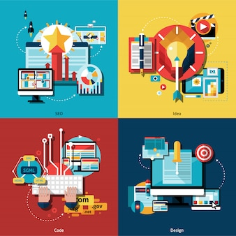 Creatieve project icons set