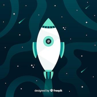 Creatieve raketachtergrond