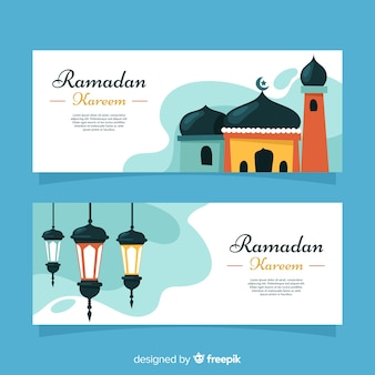 Creatieve ramadan bannners