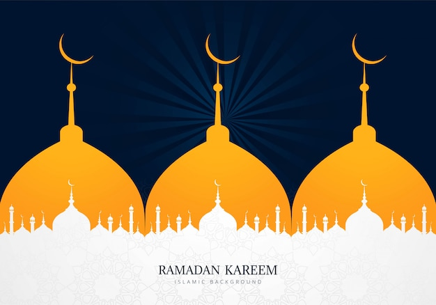 Creatieve ramadan kareem vakantie kaart achtergrond