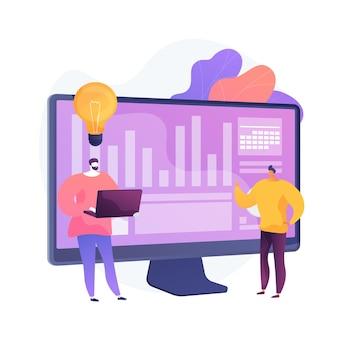 Creatieve samenwerking. programma ontwikkeling. succesvolle samenwerking, brainstorm voor coworking, effectief teamwork. collega's bespreken taak. idee genereren. vector geïsoleerde concept metafoor illustratie