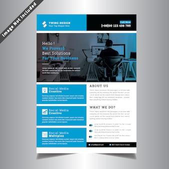 Creatieve sjabloon voor bedrijfsbrochure