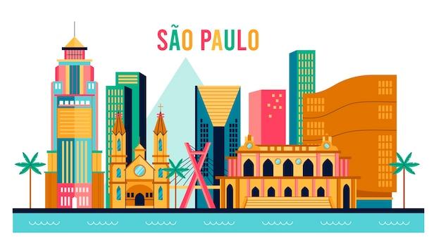 Creatieve skyline van sao paulo