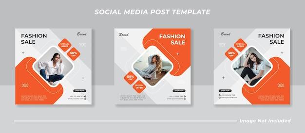 Creatieve social media postsjabloon collectie instagram fashion