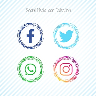 Creatieve sociale media pictogrammen facebook