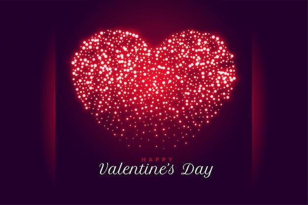 Creatieve sparkle hart valentijnsdag wenskaart