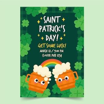 Creatieve st. patrick's day-poster