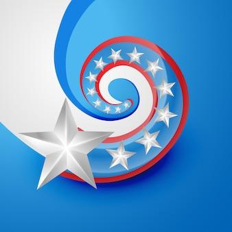 Creatieve stijl 4 juli onafhankelijkheidsdag vector
