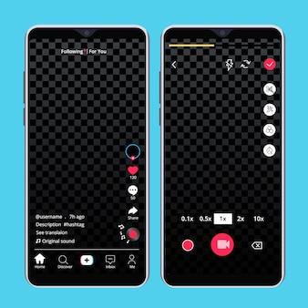 Creatieve tiktok video-interface