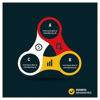 Creatieve triangle bedrijf infographics template