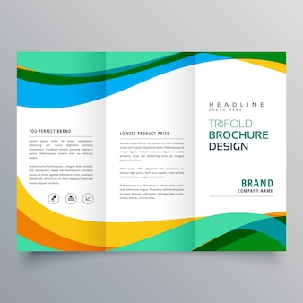 Creatieve trifold business brochure ontwerp sjabloon