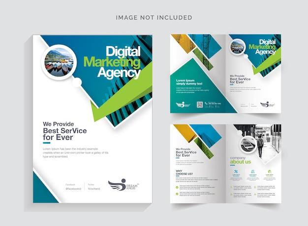 Creatieve tweevoudige brochure