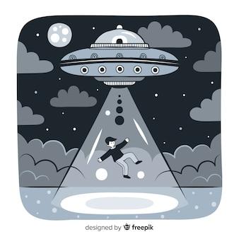 Creatieve ufo achtergrond