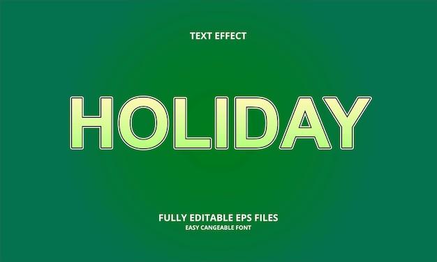 Creatieve vakantie teksteffect ontwerpsjabloon