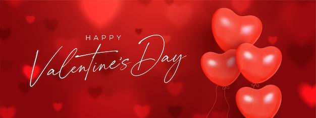 Creatieve valentijnsdag rode banner.