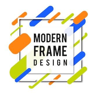 Creatieve vector moderne memphis frame