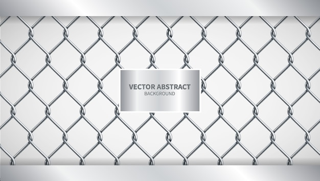 Creatieve vectorillustratie chain fence achtergrond