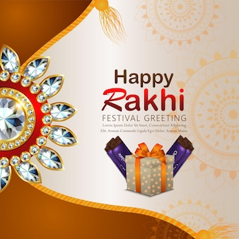 Creatieve vectorillustratie van gelukkige raksha bandhan viering achtergrond