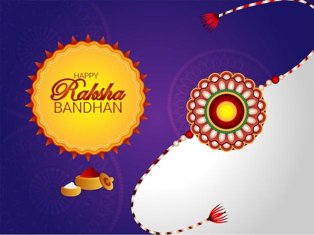 Creatieve vectorillustratie van gelukkige raksha bandhan-vieringskaart