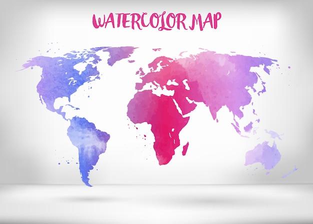 Creatieve vectorkaart van de wereld.