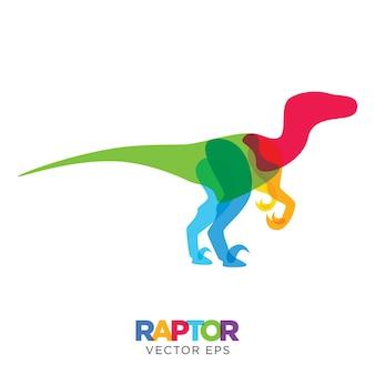 Creatieve velociraptor-dinosaurus