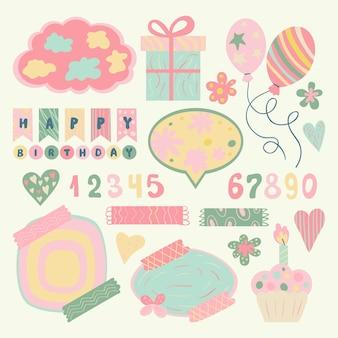 Creatieve verjaardag plakboek set