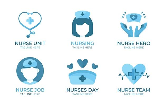 Creatieve verpleegster logo sjablonen