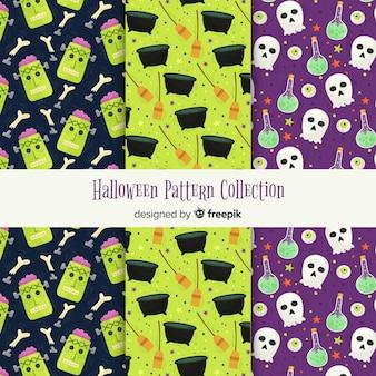 Creatieve verzameling van halloween-patronen