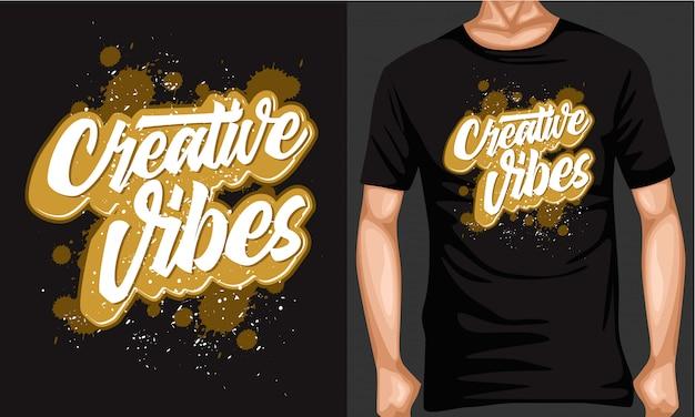 Creatieve vibes belettering typografie