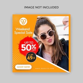 Creatieve vierkante verkoopbanner voor instagram