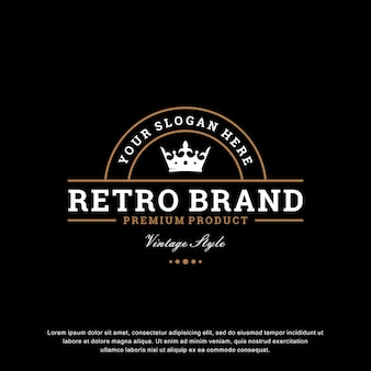 Creatieve vintage logo sjabloon