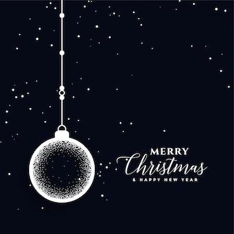 Creatieve vrolijke kerstbal decoratie festival kaart