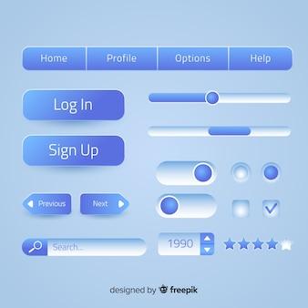Creatieve webknoppen in verloopstijl