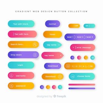Creatieve webknoppen in verloopstijl Premium Vector