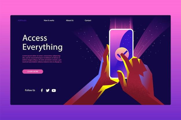 Creatieve webpagina sjabloon