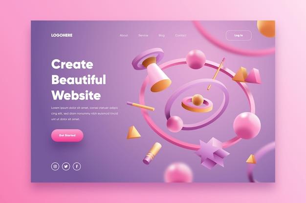 Creatieve website-bestemmingspagina