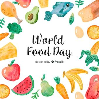 Creatieve wereld eten dag achtergrond
